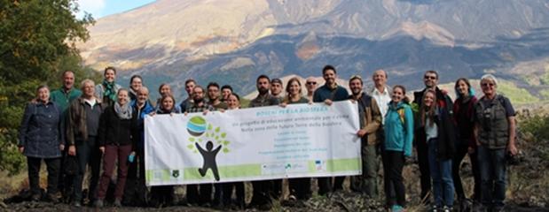 Klima-Workshop-Exkursion mit Freiwilligen und Experten; Foto: Andrea Aidala
