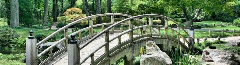 Brücke vor Wald