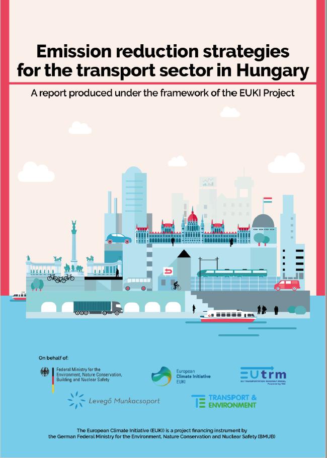 Titelblatt der Studie zu Emissionsreduzierung im ungarischen Transportsektor