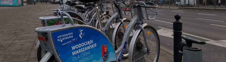 Bicycles for rent in Warsaw