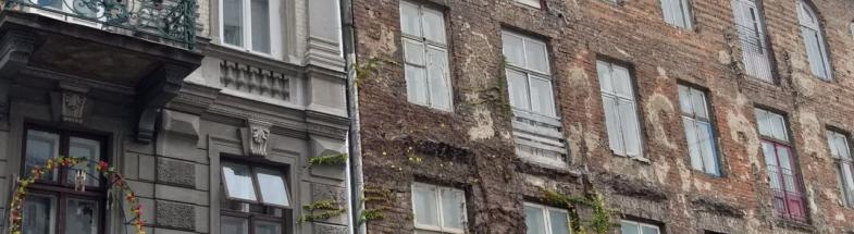 Hausfassade in Warschau