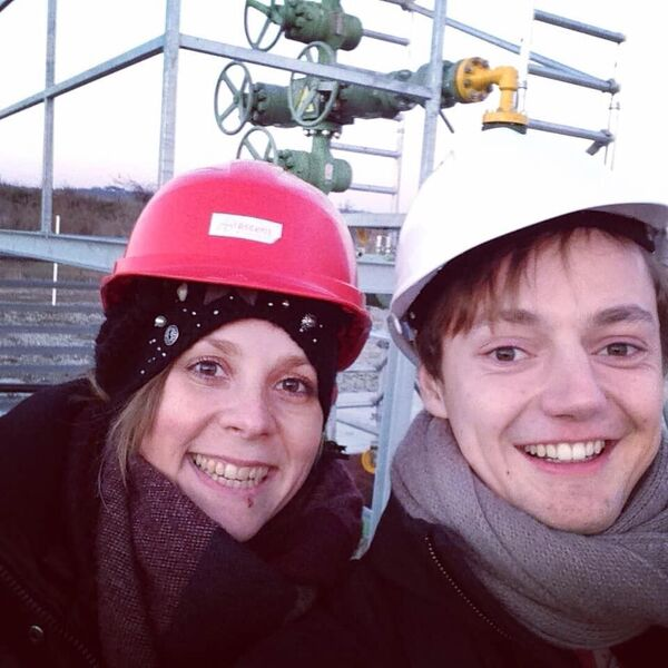 The two fellows Sabine Rossi and Markus Meyer-Gehlen visited a gas field in Slovenia.