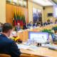 Konferenz zu Solarenergie in Litauen in Sitzungssaal des Seimas in Vilnius