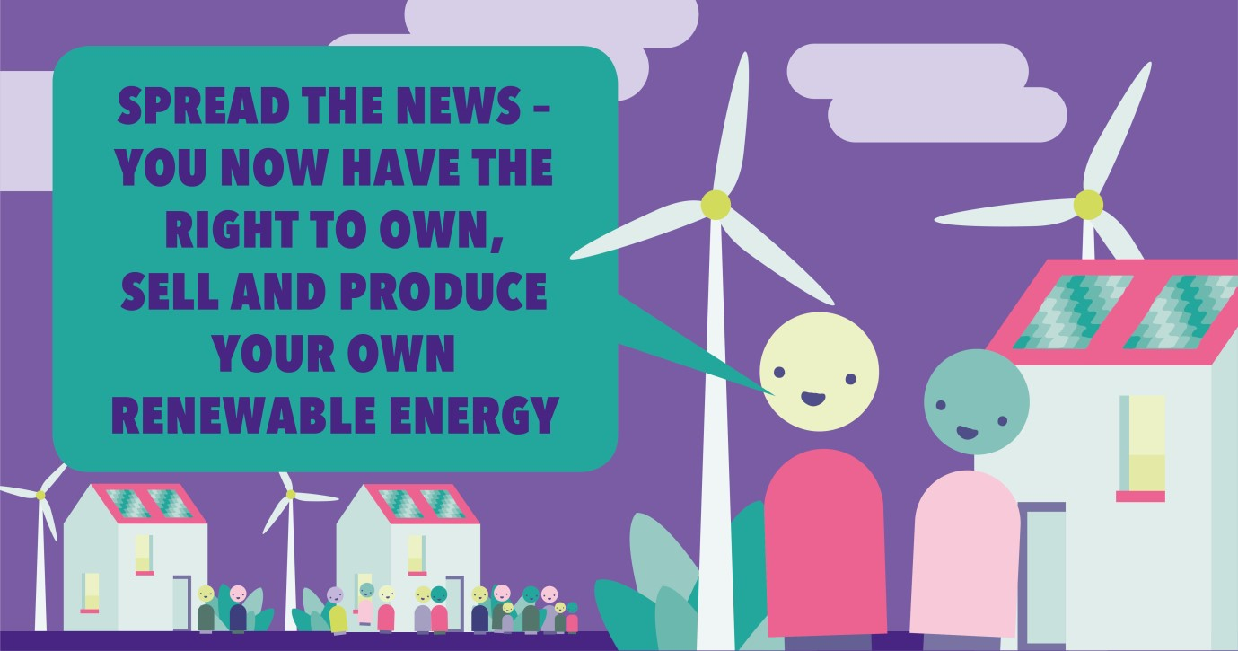 Informational campaign on community energy.