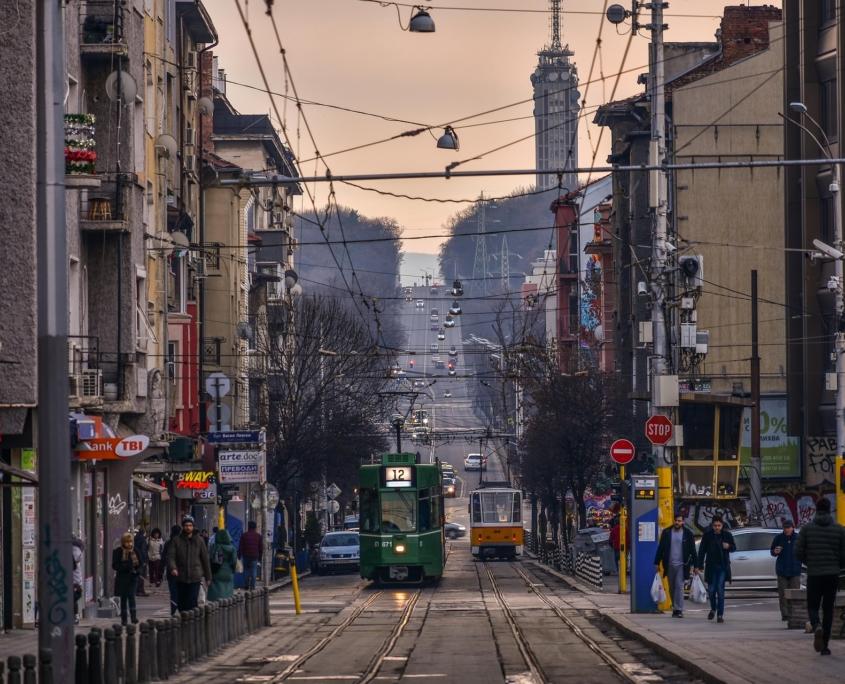 Blick auf Straße