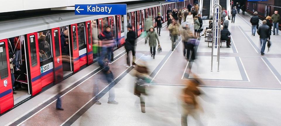 Metro station Warsaw