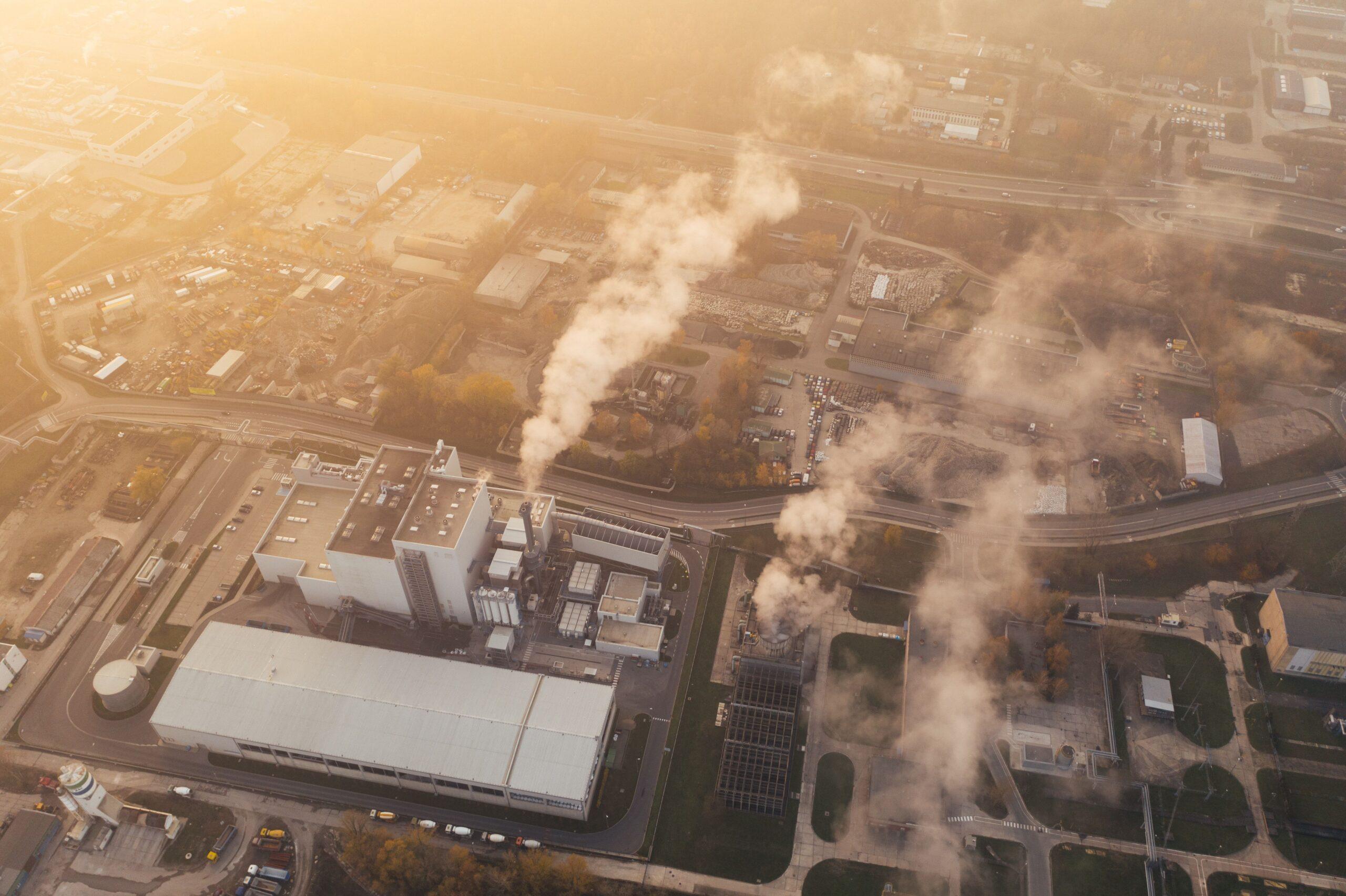 Blick auf Industriegebiet in Polen