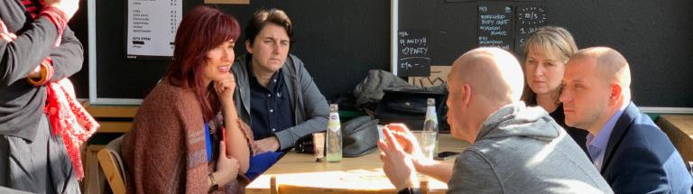 Discussing participants