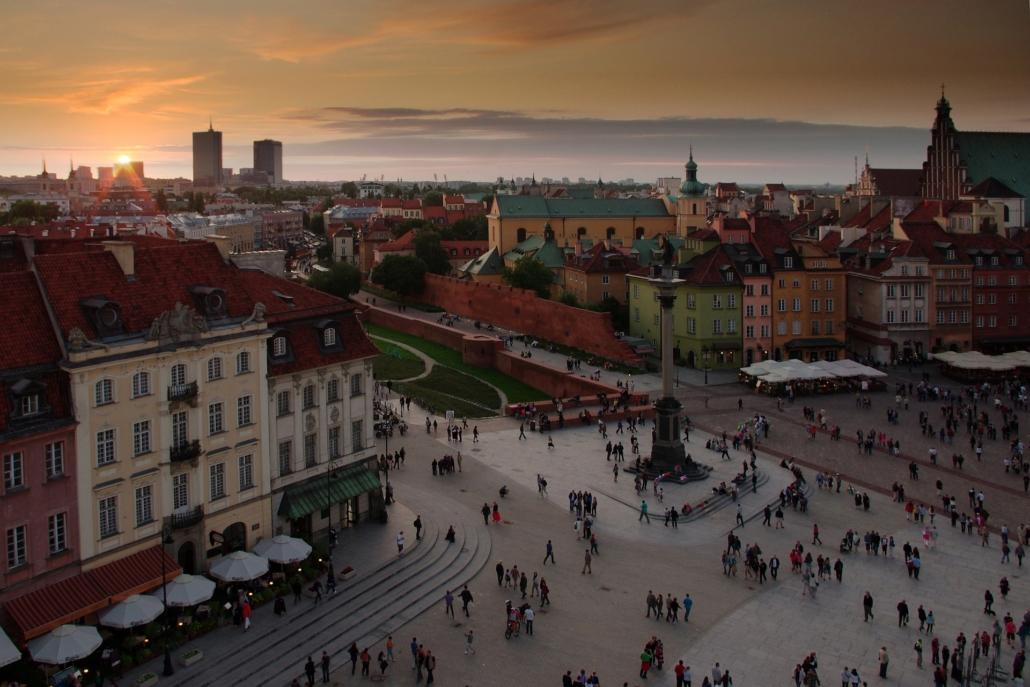 Crowds in Warsaw