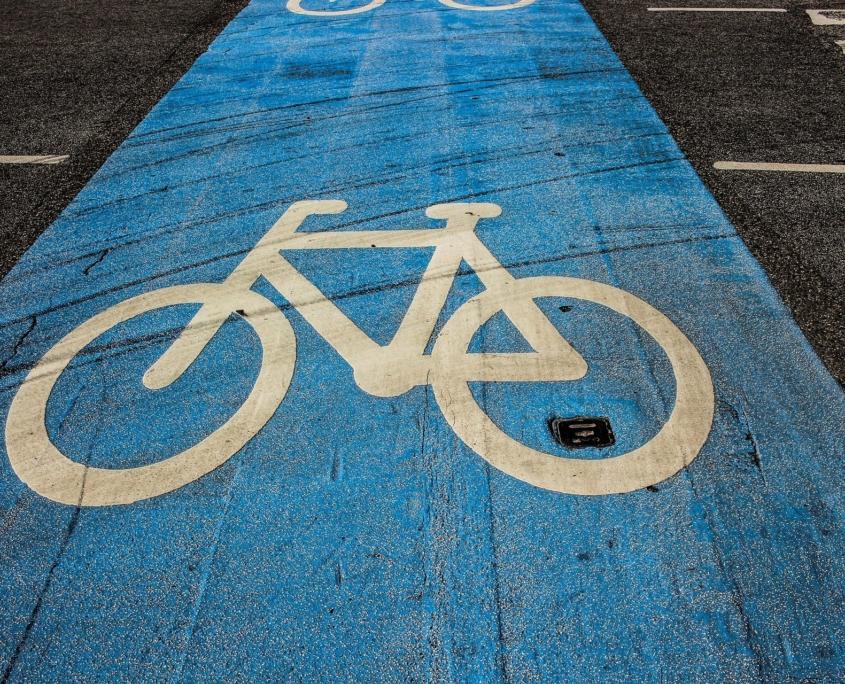 Fahrradweg Verkehrszeichen
