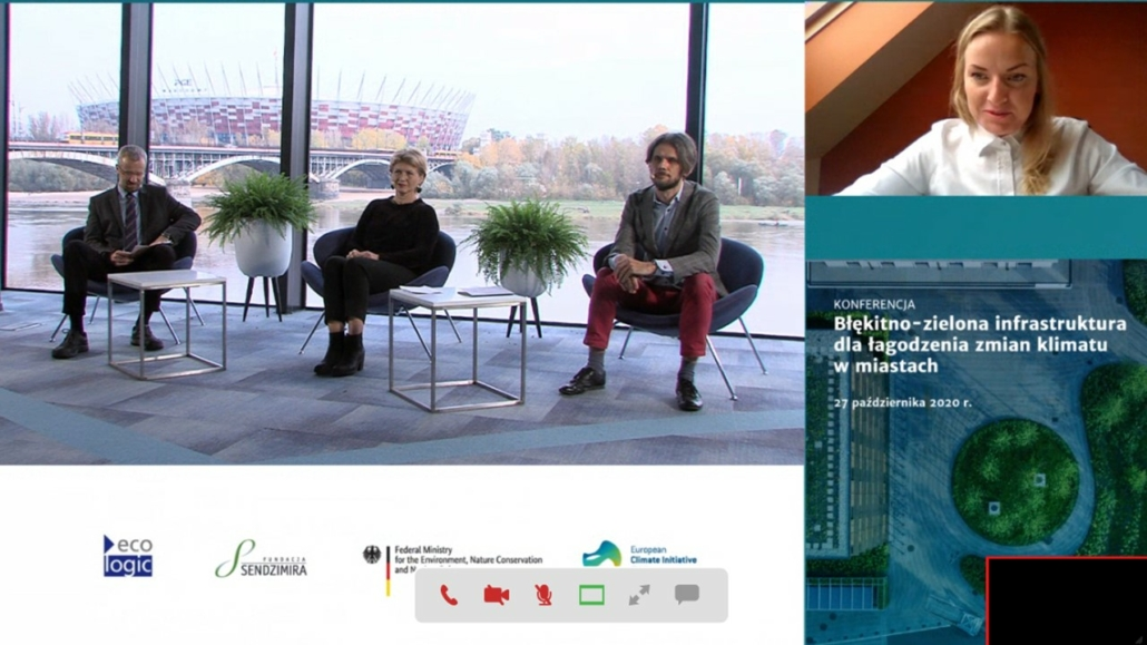 Online conference: Blue and green infrastructure for urban climate change mitigation