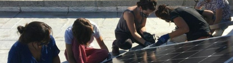 Installation of PV on a roof in Spain