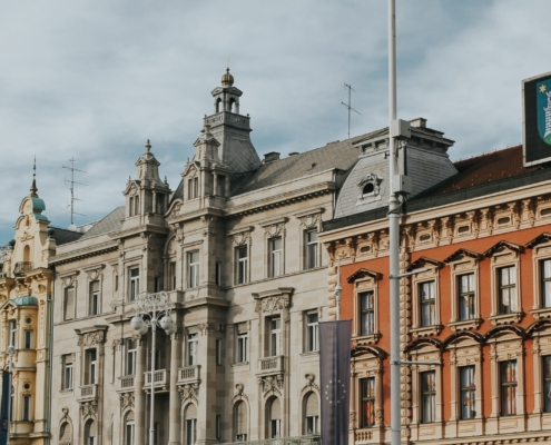 Heritage buildings in the city of Zagreb, Croatia