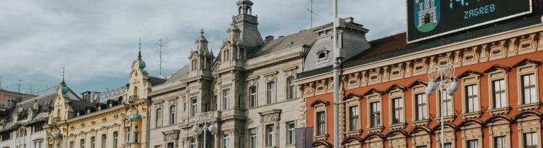Heritage buildings in the city of Zagreb, Croatia