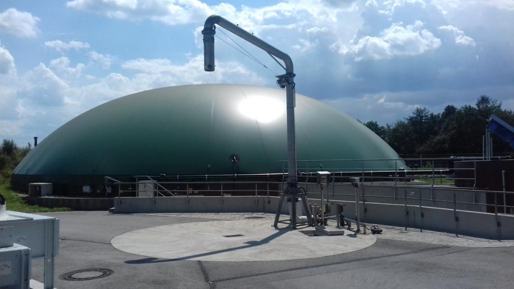 Biogas plant in Bavaria, Germany