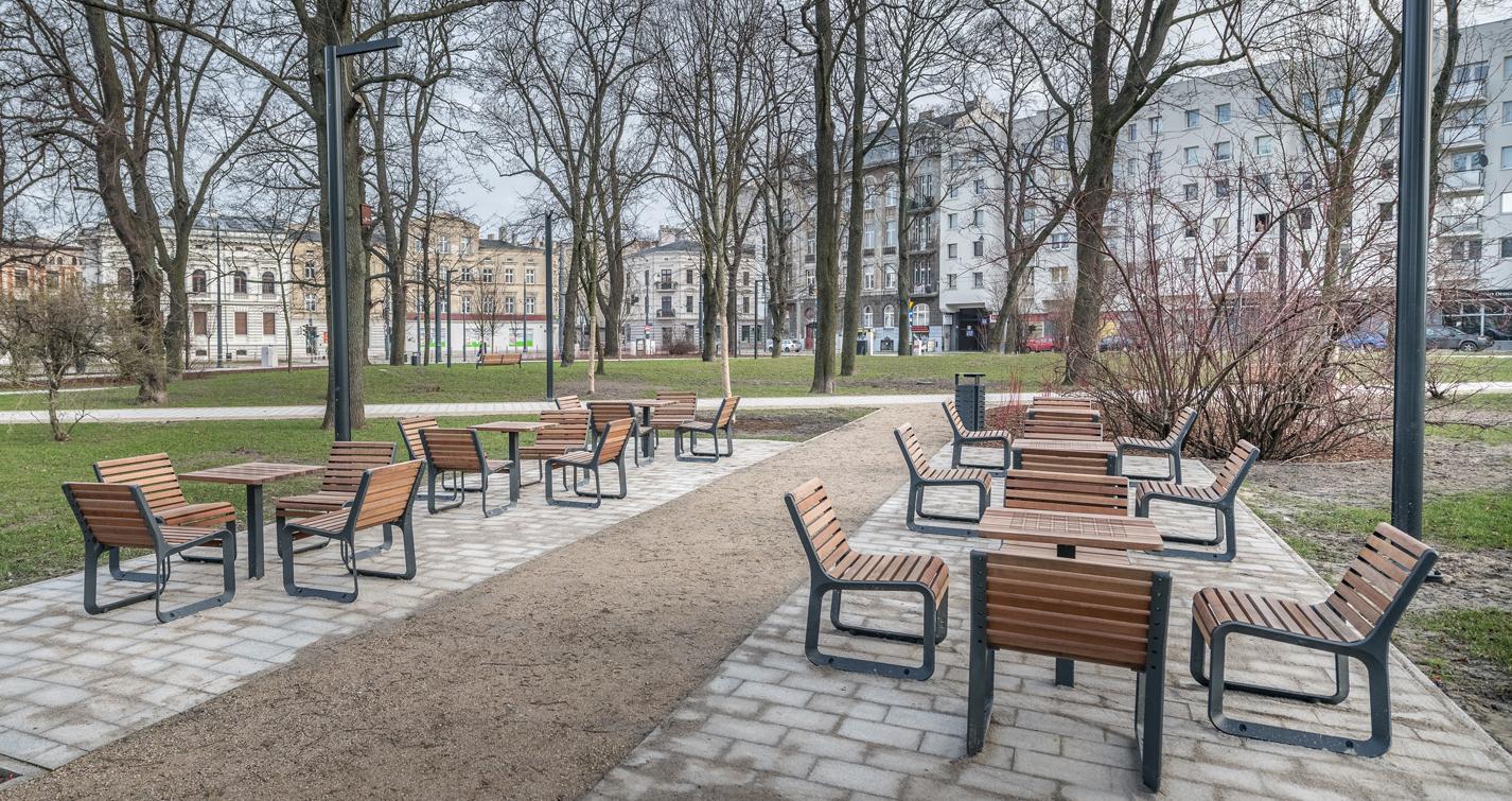 Modernisierung im Moniuszki Park in Łódź