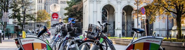 Öffentlicher Fahrradverleih in Warschau