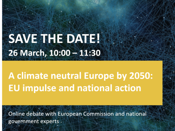 "Online debate on ""A climate neutral Europe by 2050"