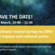 """Online debate on """"A climate neutral Europe by 2050"""