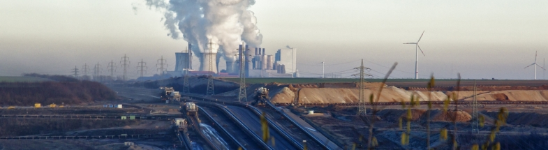 Industrial landscape of a coal region.