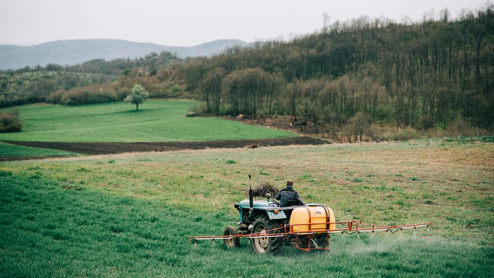 Rural view in Kamenica, Kosovo.