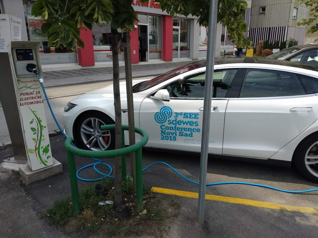 Electric Car with promotion for the 3rd SDEWES conference (c) SDEWES